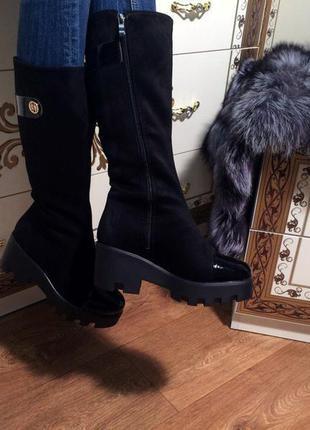 Шикарные зимние сапоги! 36 37 размер