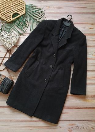 Кашемирово шерстяное демисезонное пальто плащ прямого кроя