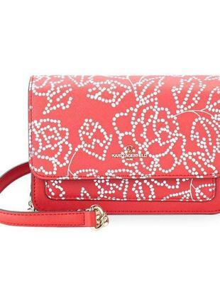 Красная сумка karl lagerfeld