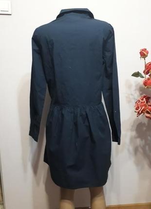 Большой выбор брендовых вещей! платье-рубашка темно-синее2 фото