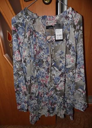 Шифоновая новая блузка размер 50-52