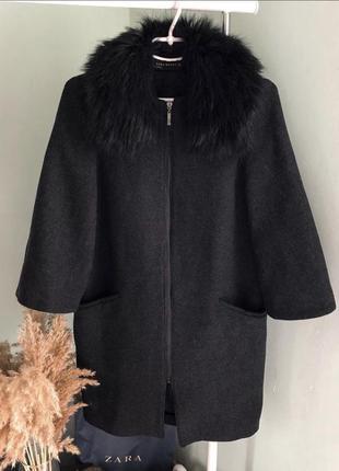 Базовое шерстяное пальто zara