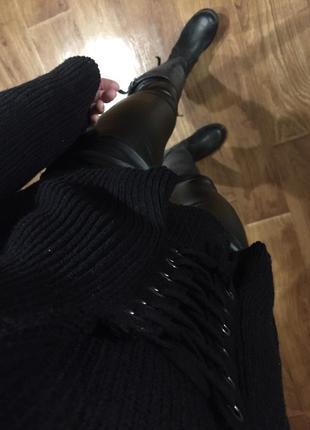 Свитер /платье вязаный h&m с шнуровкой хс/с/м