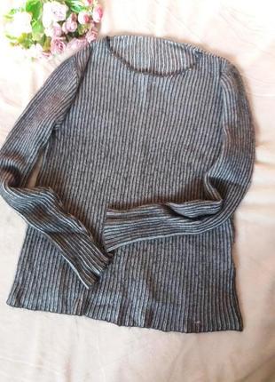 Мягкий шерстяной джемпер,английская резинка,48-52разм,.