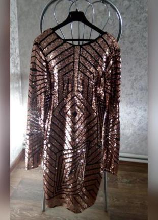 Платье нарядное стразы пайетки