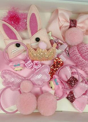 Заколки для девочек pink