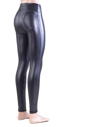 Женские леггинсы лосины кожаные  высокая посадка3 фото