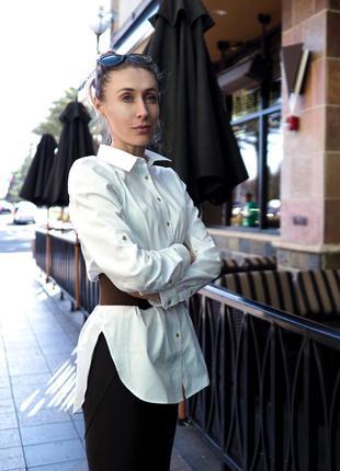 Белая женская рубашка calvin klein. офисная женская рубашка, non iron.