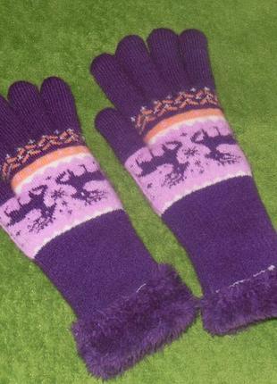 Перчатки утепленные 5-6 лет