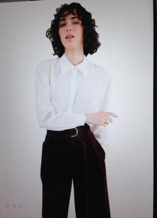 Шелковая шикарная блуза рубашка с биркой