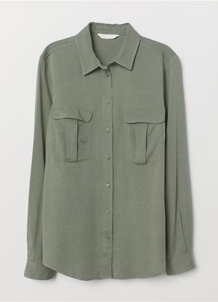Шикарная льняная рубашка h&m