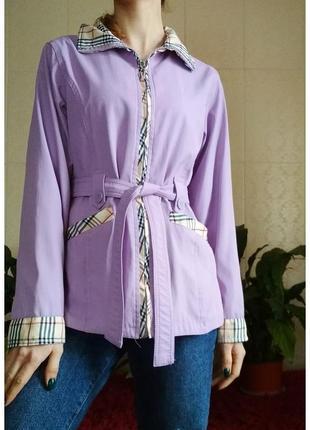 Куртка плащ ветровка на молнии со стильным узором