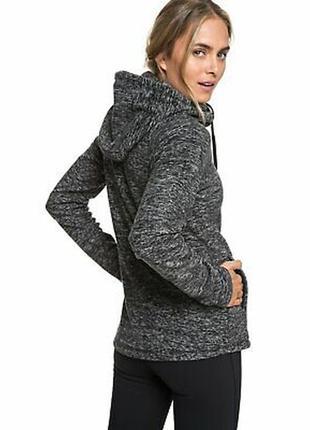 Толстовка  спортивная куртка с капюшоном худи из флиса сноубордическая roxy suuvra hoodie