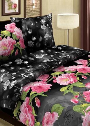 Аромат орхидей - натуральное постельное белье  из поплина