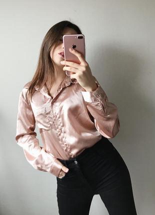 Золотая рубашка под атлас