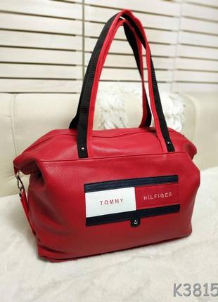 Червона дорожня сумка, спортивна сумка