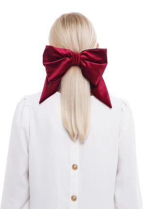 Большой бархатный бант. luxury аксессуар для волос.
