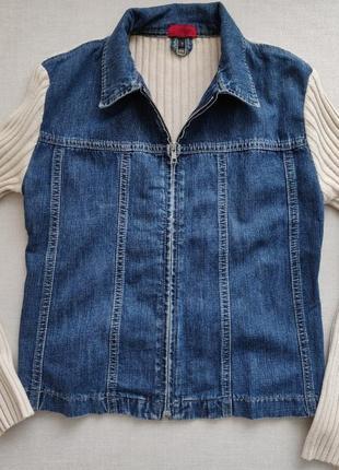 Стильная джинсовая кофта куртка реглан