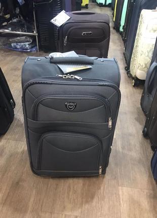 Чемодан на 2 колеса текстиль ткань валіза