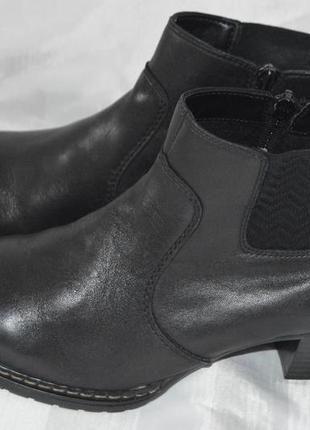 Ботильони черевики шкіряні rieker 40, ботинки кожа размер 40