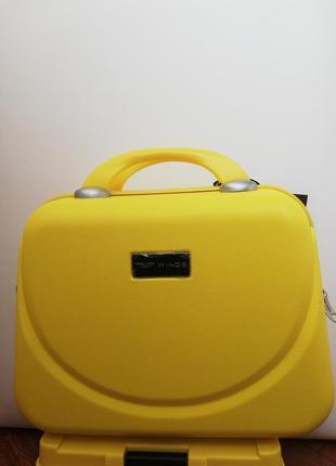 Акция косметичка бьюти-кейс жёлтый распродажа wings
