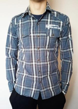Сорочка six valves іспанія/ рубашка в клетку на длинный рукав/испания