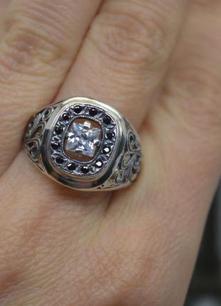 Серебряное #кольцо #каблучка #печатка #квадрат #узор #унисекс есть размеры 925