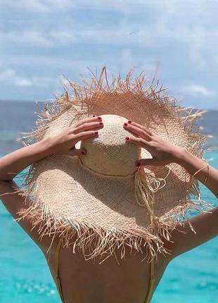 Солом'яний капелюх • соломенная шляпа с широкими полями