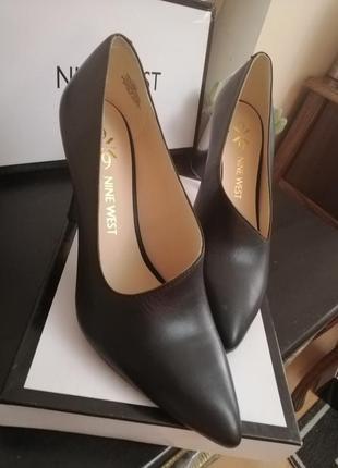 Стильные туфли натуральная кожа  nine west