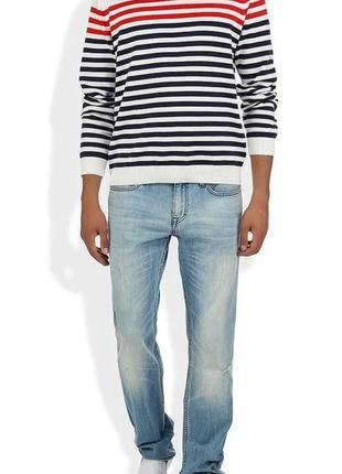 Голубые прямые джинсы от calvin klein