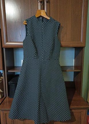 Структурированое платье в горох