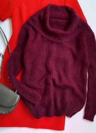 Стильный свитер марсала