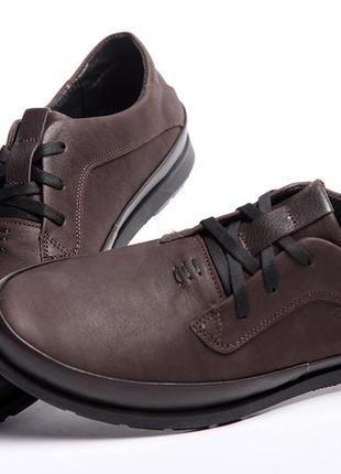 Кожаные мужские туфли tommy hilfiger brown