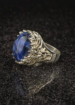 Эльфийское кольцо с лазуритом