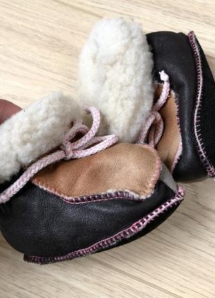 Детские ботиночки ботинки угги сапоги натуральная овчина зимние меховые мех