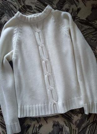 Белый терлый свитер
