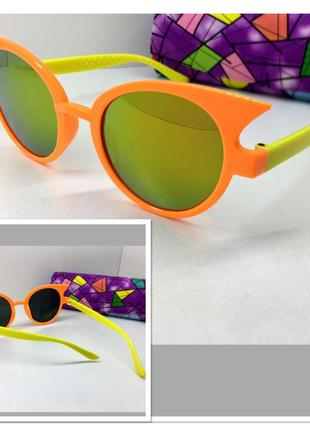 Детские яркие солнцезащитные очки