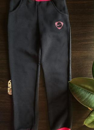 Спортивные штаны спорт зима тёплые на флисе