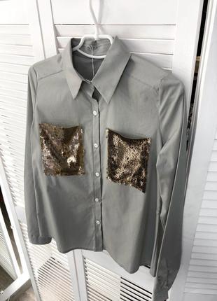 Стильна сіра сорочка в наявності
