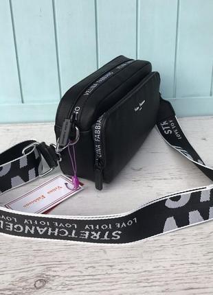 Женская стильная сумка через на плечо velina fabbiano жіноча сумка чорна5 фото