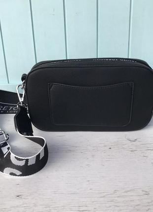 Женская стильная сумка через на плечо velina fabbiano жіноча сумка чорна7 фото