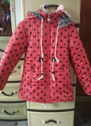Зимова куртка для дівчинки. зимняя парка