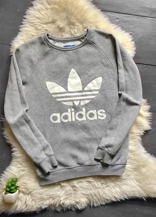 Оригинальный свитшот утеплённый на флисе кофта адидас adidas