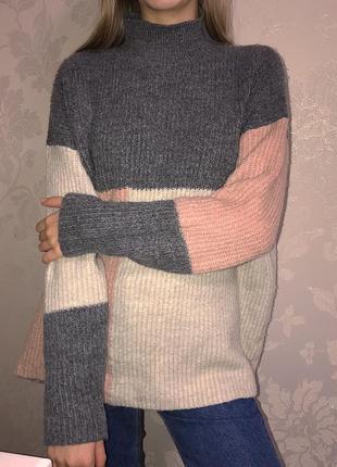 Теплый красивый свитер oversize оверсайз redherring подойдет для беременных red herring