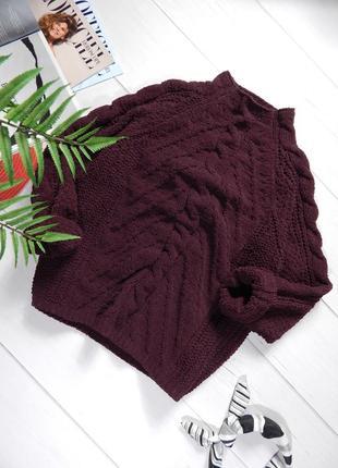 Мягкий велюровый свитер прямого свободного кроя от m&s синель плюшевый