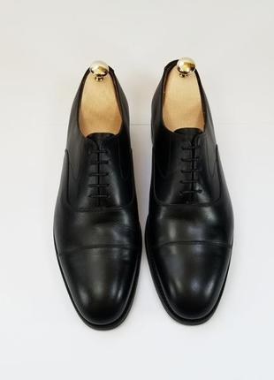 Barker made in england кожаные туфли броги оксфорды черного цвета 42 43