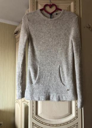 Редкость! худи пайта свитер свитшот из натуральной альпаки , альпака , woolrich,