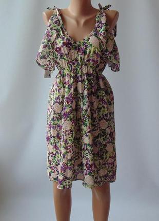 Платье сарафан воланы хлопок lavand,испания м
