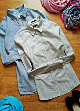 Женская базовая офисная брендовая рубашка - сорочка marc o polo - размер 42-44