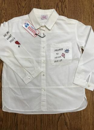 Рубашка на девочек